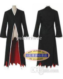 Wholesale Ichigo Kurosaki Bankai Costume - Wholesale-cartoon Amime Bleach Costume-Bleach Kurosaki Ichigo Bankai Cosplay Unisex Cloak Black for Halloween  Party