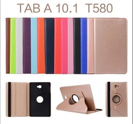 Wholesale Tab Smart Case - 360 Degree Rotating PU Leather Case Smart Cover For Samsung Galaxy Tab E 9.6 Inch T560 Tab A 10.1 T580 T585