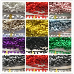 Wholesale trimmings for clothing - (20 yards lot) pom pom ball trims laces accessories for clothing patchwork DIY zakka