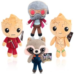 Wholesale hot doll games - HOT Guardians of the Galaxy Plush Dolls Guardians of the Galaxy Plush Toys Stuffed Kids Toys Christmas Gift for Kids OTH179