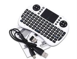 Wholesale Fly Mouse Android - Wireless Keyboard rii i8 keyboards Fly Air Mouse Multi-Media Remote Control Touchpad Handheld for TV BOX Android Mini PC 20pcs