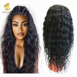 Wholesale Big Knot Tie - Virgin Malaysian Wet and Wavy Glueless Full Lace Human Hair Wigs Water Wave Lace Front Wigs With Baby Hair 130% Density Bleached Knots