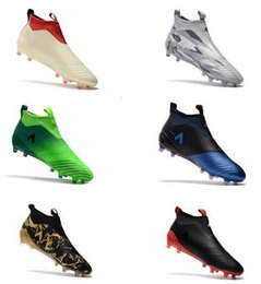 Wholesale Cheap Winter Boots Online - 2017 Cheap Drop Free Shipping ACE 17+ Purecontrol FG NEW Men's Soccer Shoe boots Mens ace 17 soccer cleats football shoes online