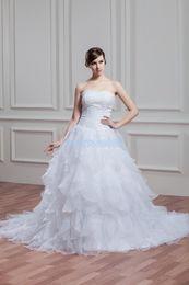 02047a1ca925 free shipping 2018 new supernova sale white zipper beading widding dress  custom size color small train plus size wedding dress