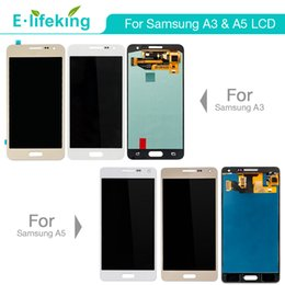 Wholesale Test Digitizer - 100%Tested For Samsung A3 A5 LCD Display Touch Screen Digitizer Assembly Replacement Excellent Quality with Free DHL Shipping