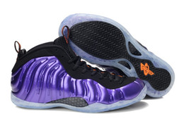 Wholesale Pearlized Pink Basketball Shoes FoamMaxPosites Men Penny Anfernee Hardaway T1ProOne Series Sports Shoe Athletics Sneakers Purple black pink