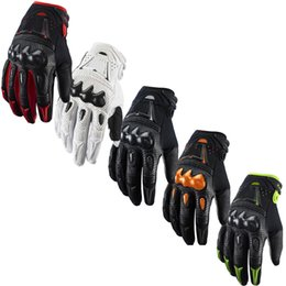 Wholesale New Atv Motorcycle - New Carbon bomber motocross gloves BMX ATV MTB MX Off Road cross fox glove Dirt bike Cycling bicycle Motorcycle racing gloves
