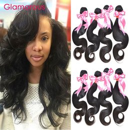 Wholesale Remy Black Woman Hair - Glamorous Peruvian Malaysian Indian Brazilian Virgin Hair Body Wave 4 Bundle 8-34Inches Full Cuticle 100% Remy Hair Weaves for Black Women