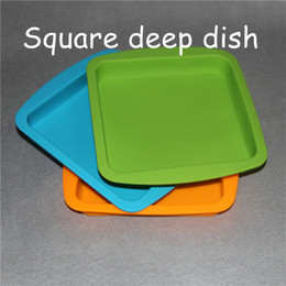 "Wholesale Toy Deep - 2016 factory price Deep Dish square Pan 8.5"" friendly Non Stick Silicone Container Concentrate Oil BHO silicone tray"
