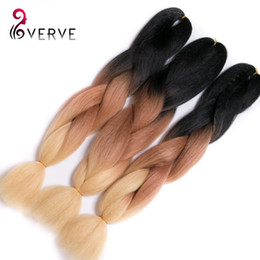 Wholesale Xpression Braiding Hair Wholesale - free shipping synthetic braiding hair two tone ombre xpression braiding hair yaki straight xpressions kanekalon braiding hair