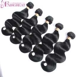 Wholesale Wave Hair Sold Bundles - Hot Selling Body Wave Hair Weaves Unprocessed Human Malaysian Hair Extensions Double Weft 5 Bundles Dyeable No Shedding Natural Color Hair