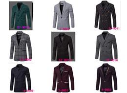 Wholesale Leopard Fur Button Jacket - Casual Blazer Men Fashion Plus Size Business Slim Fit Jacket Suits Masculine Blazer Coat Button Suit Men Formal Suit jacket 35 COLOR newest!