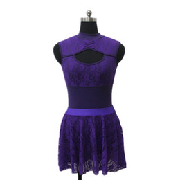 Wholesale Girl Matching Costumes - Cotton Lycra Lace Tank Leotard with Matching Lace Skirts Girls Ballet Dancewear Ladies Dancing Costume Full Sizes 13 Colors Available