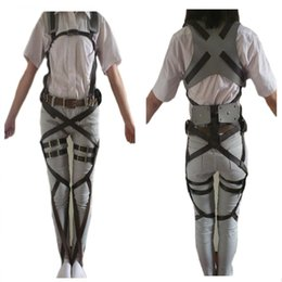Wholesale Costumes Leather Harness - Unisex Attack on Titan Leather Belts Bandage Harnesses