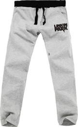 Wholesale Parks Sports - Wholesale-Men women linkin park pantalones rock&roll hip hop outdoor sports trousers plus size loose jogger sweatpants jogging pants men