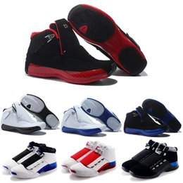 Wholesale 18 Thread - Youth basketball retro 18 shoes best discount retros XVIII 18s Man Basketball Shoes generation red black lengend blue Sport Sneaker Boots