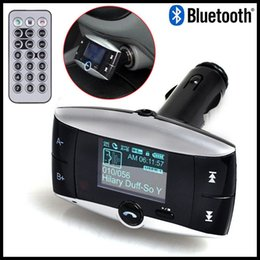 Wholesale Car Cell Phones For Sale - Hot Sale Handsfree Wireless Bluetooth Car Kit MP3 Player FM Transmitter Radio Adapter With LCD Remote Control For Cell Phone