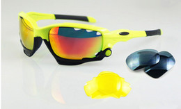 Wholesale Racing Jackets Orange - New Cycling Glasses Racing Jacket Top Sport Sunglasses Multicolor TR90 Frames Mountain Bike Goggles 3 pairs Lenses Wholesale