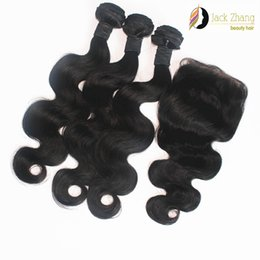 Wholesale Hair Extensions Machine Buy - 8A Cuticle Mongolian Hair Weave 10-28inch Buy 3 Get 1 Free Lace Closure Vietnamese Burmese Cambodian Body Wave Human Hair Extensions