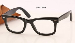 Wholesale Top Brand Optical Glass Frame - top selling men women classic square eyeglasses frame retro designer optical frames glasses acetate frame metal hinge brand new in case 50mm