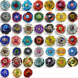 Wholesale Plastic Spinning Tops - ALL 45 MODELS Beyblade Metal Fusion 4D Launcher Beyblade Spinning Top set Kids Game Toys Christmas Gift for Children free shipping