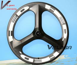 Rodas de tempo on-line-Bicicleta de estrada de HED Full carbono Tri falou / roda de 3 raios, clincher 70mm para estrada / pista / triatlo / tempo de bicicleta rodas
