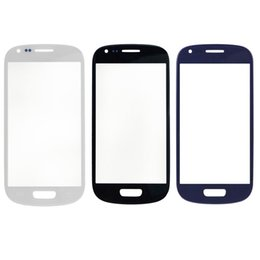 Wholesale Lcd Screen Galaxy S3 Mini - 100pcs lot LCD Front Outer Touch Screen Glass Lens Digitizer Screen+ logo For Samsung Galaxy S3 Mini i8190 S4 mini I9190 I9195