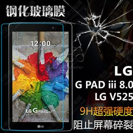 Wholesale Lg G Pad - 0.33MM 9H HD Tempered Glass Screen Protector film Screen Guard With Tracking For LG G Pad 3 iii 8.0 V525 Gpad3 8.0inch with retail-box