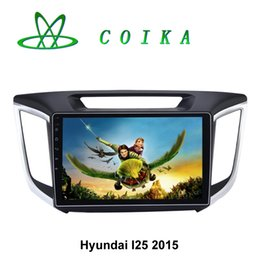 Wholesale Double Din Car Gps Navigation - Newest Android 5.1 Lollipop Double Din Car DVD For Hyundai IX25 2015 Radio GPS Navigation 16G ROM 1G RAM Quad Core HD 1024*600 Touch Screen