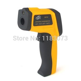Wholesale Laser Thermometers Wholesale - DS:12:1 700 Degree Non-Contact IR Laser Infrared Digital Thermometer -50 -700 Degree GM700 POINT 10pcs lot Free Shipping