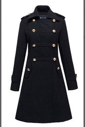 Wholesale Formal Overcoats - 2016 Autumn and winter New Double-breasted trench fashion long outerwear ultra long lengthen overcoat slim coats singer costumes