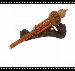 Новые Продажи Бесплатная Доставка C Tune Унисекс Оранжевый 6 Отверстий Hulusi Packtong Трубки Разборки Бутылки Тыквы Шелк от
