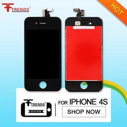 Wholesale Cheap Free Shipping Panel - for iPhone 4 4S LCD Display & Touch Screen Digitizer Full Assembly Cheap Price Black White 10pcs lot Free DHL Ship