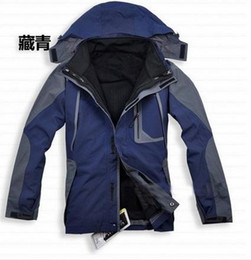 Wholesale Double Layer Ski Jacket - mountaineering jacket High Quality Men's Outdoor Double Layer 2in1 Winter Ski Jacket Outdoor Jacket