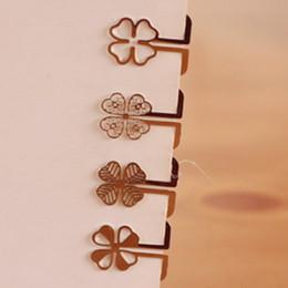 100 teile / los Mini Metall Lesezeichen Clips Niedlichen Cartoon Tier Blume Cartoon Überzogene Sliver Lesezeichen Buch Linie Marker Papelaria von Fabrikanten