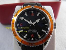 Wholesale Watch Diver Orange - Original Box Papers luxury Men's 2209.50 Orange Automatic Planet Ocean Co-Axial Divers 42mm Rubber Bands Black Dial Watch Men's Watches