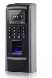 Wholesale biometric fingerprint time - Cheaper Fingerprint Access Control Device TCP IP Employee Time Attendance with Access Control F8 Keypad RFID Biometric Access