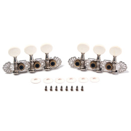 Wholesale Electric Chrome Tuning Keys - String Tuning Pegs Keys Tuners Machine Heads for Classic Electric Guitar Replacement Open Style Folk Style Metal Buttons Chrome