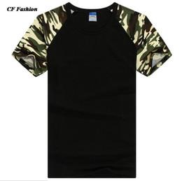 Wholesale Wholesale Hip Hop Men Clothing - Wholesale-2016 new t shirt men designer camo brand clothing army tees t-shirt color short sleeve cotton tshirt homme hip hop 15 colors