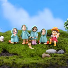 Wholesale Cute Girl Fairy - Cute cartoon girls Totoro fairy garden miniatures gnomes moss terrarium artificial home decoration for home decor DIY Zakka