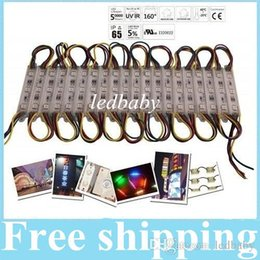 Wholesale Led Rgb Pixel Module High - High Power Waterproof 12V RGB Led Pixel Modules 3 Leds 5050 SMD 0.72W Led Modules 80LM