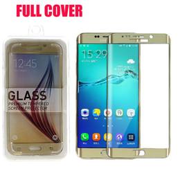 Samsung Galaxy S6 Edge Plus Pantalla Protector de vidrio templado a prueba de explosiones laterales de 0.2 mm S6 Edge Plus Vidrio templado sin DHL SSC031 desde fabricantes