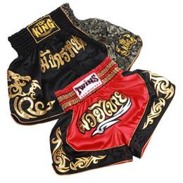 Wholesale mma shorts for men - S -XXL Size Mma Shorts Pantalonetas Mma Pantalon Thai Boxing Shorts Tights Fight Fitness Shorts for Kids Men Black Red