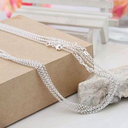"""Wholesale Solid Sterling Silver Charms - Wholesale 10pcs Lot Solid 925 Sterling Silver O Link Chains Necklaces for Jewelry Charms Pendants 16"""" 18"""" 20"""" 22"""" 24"""" 26"""" 28"""" 30"""" (8 sizes)"""