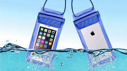 Wholesale Iphone Underwater Housing - Underwater Swim Diving Housing Beach Case Pouch Dry Bag For iPhone for Samsung Galaxy For Cellphone Waterproof Universal Case Free DHL