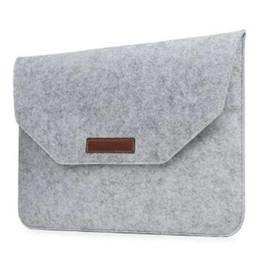 Wholesale 12 Tablet Pc Sleeve - Premium Felt Protective Sleeve Pouch Bag For Macbook Air Pro Retina 12 13 15 inch Laptop PC Travel Storage Handbag Business Casual Style