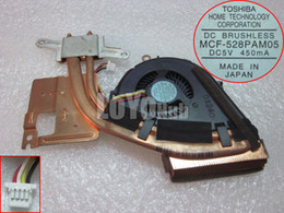 Wholesale Dc Fan Cooler Wire - Free Shipping For TOSHIBA MCF-528PAM05 VPCZ1 PCG-31111T DC 5V 450mA 4-wire 4-pin connector 50mm VPCZ1 Series Cooling Fan