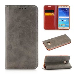 Wholesale Crazy Horse Skin Magnetic - Retro Wallet Leather Case Crazy Horse Pouch Mad Stand ID Card TPU Bag Magnetic For Iphone SE 5 5S 5C 7 I7 6 plus 6S I6S LG G5 Skin Luxury