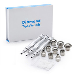 Wholesale microdermabrasion diamond tips - Microdermabrasion Diamond Tips&Wands With 9 pcs Diamond Tips 3pcs Wands Cotton Filter For Skin Peeling Free Shipping