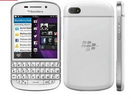 Wholesale Ram Ghz - Original Blackberry Q10 Mobile Phone 3G 4G Network 8.0MP Dual-core 1.5 GHz 2G RAM 16G ROM Unlocked Q10 refurbished mobile phone